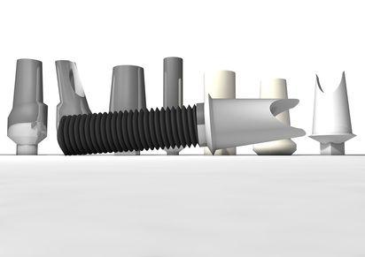 #CAD-CAM #Implantatabutments aus #Titan oder Keramik geben optimalen Halt für #Implantkronen oder #Implantatbrücken