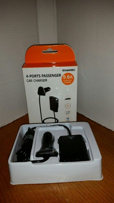 Back Seat Phone Charger  When we are traveling with back seat passengers, there is always a problem with the device car charger not being able to reach from the front receptacle to the back seat.  With this four port back seat car phone charger, the problem is solved.    The plug …