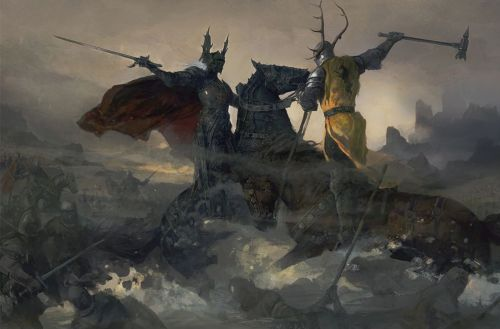 The Battle of the Trident Robert Baratheon and Rhaegar Targaryen Artist: Justin Sweet