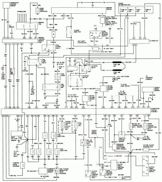 1994 Ford Ranger 3.0 Engine Diagram