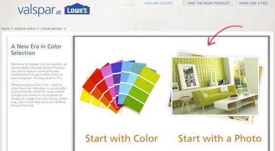 Valspar color visualizer when i have a home pinterest for Design your home online with room visualizer