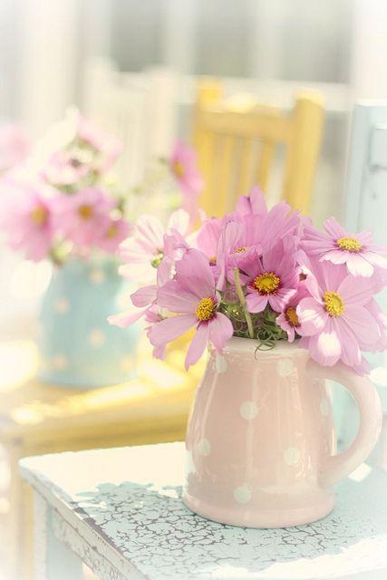 Milk jugs as vases #home: