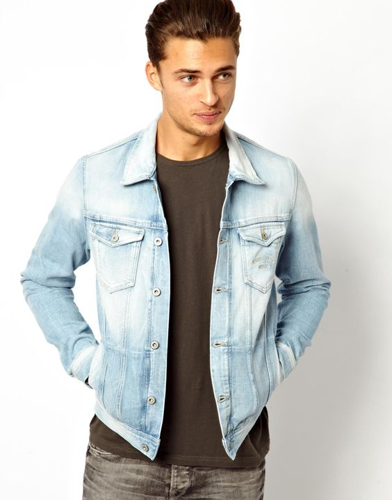 Light Denim Jacket Mens - My Jacket