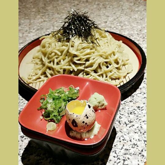 Soba with a quail egg