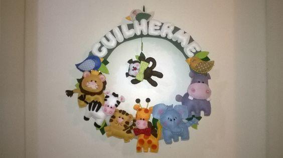 Enfeite porta maternidade Zoo