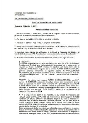 Barcelona divulga documento em que admite fraudes no contrato de Neymar