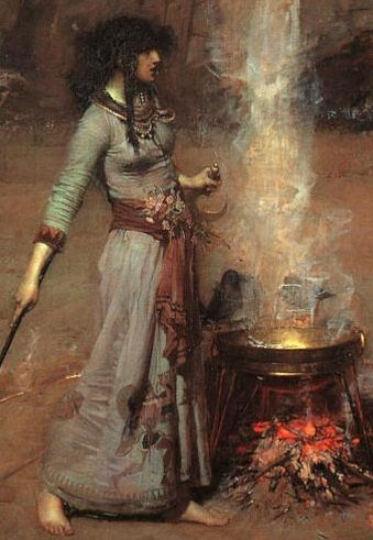Morgan Le Fay. I've always loved this painting, she conveys such strength to me. :)