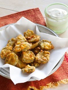 Southern Fried Dill Pickles - fried pickle chips are a definite crowd pleaser.