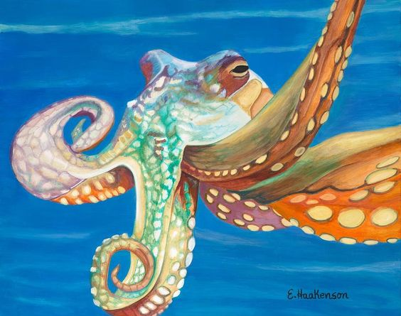 Master of the Deep Painting by Elaine Haakenson - Master of the Deep Fine Art Prints and Posters for Sale