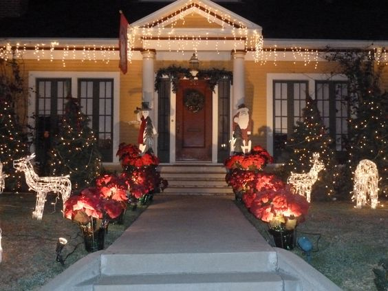 One of the many homes on christmas tree lane decorated for the