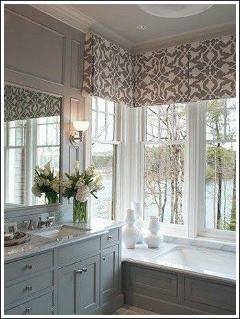 Modern window treatment ideas from jennifer for Master bathroom window ideas