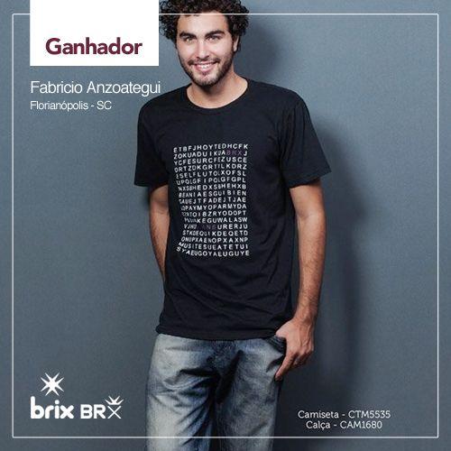 Ganhador look masculino:  FABRÍCIO ANZOATEGUI de Florianópolis - SC