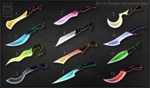 Fantasy daggers (CLOSED) by Rittik-Designs