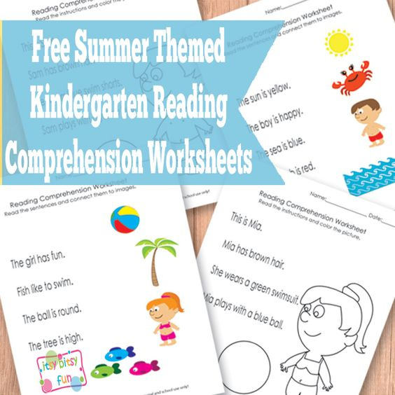Free Summer Kindergarten Reading Comprehension Worksheets : Kid Blogger Network Activities ...