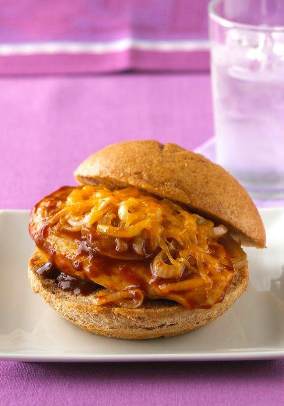 Cheesy BBQ Chicken Sandwiches -- Chicken gets big BBQ taste, plus ...