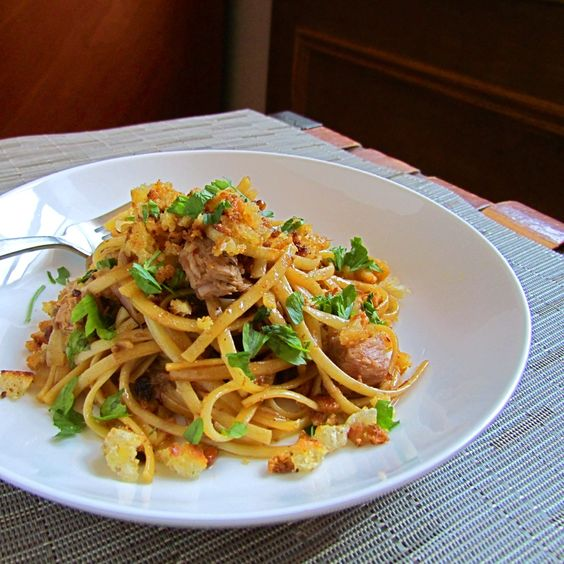 October 17:  National Pasta Day (Featured: Sicilian Pantry Pasta)