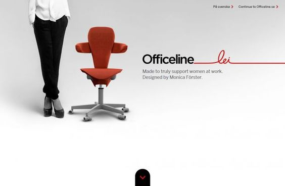 Officeline Lei - Designed by Monica Foerster - Best website, web design inspiration showcase Studio, ECommerce, Inspiration, Parallax Scrolling Site, Design, Chair, html5, css3