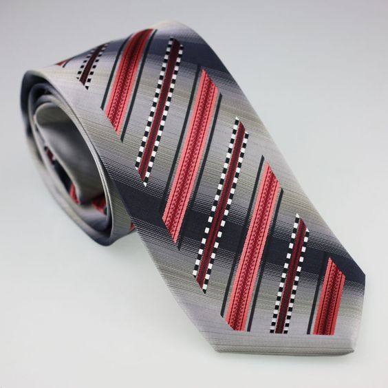 YIBEI Coachella Men's ties Bordered Grey With Coral Black White Stripes Necktie fashion Ties for men dress shirts Wedding 8.5CM-in Ties & Handkerchiefs from Men's Clothing & Accessories on Aliexpress.com | Alibaba Group