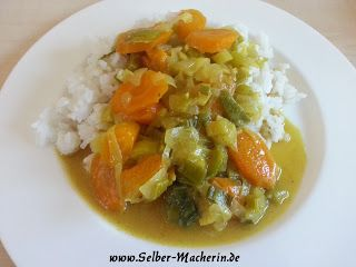 Selber-Macherin: Vegetarisches Aprikosencurry mit Reis  Hallo ihr! Heute mal wieder was mit Reis. Leckeres Aprikosencurry!  Und für alle die häufig Reis essen ein kleiner Tipp am Rande: Ein Reiskocher für die Mikrowelle erleichtert einem das Leben ungemein. Zum Beispiel dieser hier: http://www.amazon.de/gp/product/B00BTIVNT4/ref=as_li_tl?ie=UTF8&camp=1638&creative=6742&creativeASIN=B00BTIVNT4&linkCode=as2&tag=selbermacheri-21&linkId=NZFMBANGFQ4XNCDT