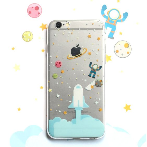 Rocket launching planet space astronaut soft case for iPhone 5/5S/6/6S/6 plus #UnbrandedGeneric