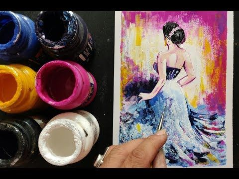 Easy Simple Painting Ideas Step By Step Poster Painting Tutorial Youtube Easy Paintings Painting Tutorial Painting