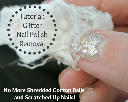 How to Remove Glitter Nail Polish- this will be life saving.
