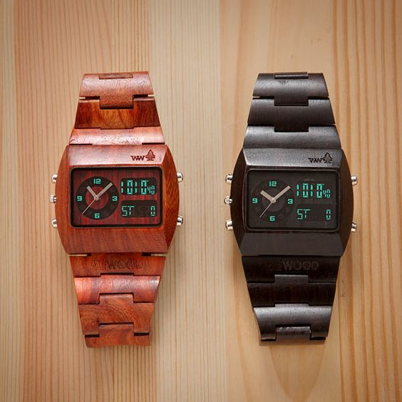 Wooden watches?!      I didn't even know they existed until my crazy-awesome girlfriend surprised me with one!      PS: Thanks, @Nikki!