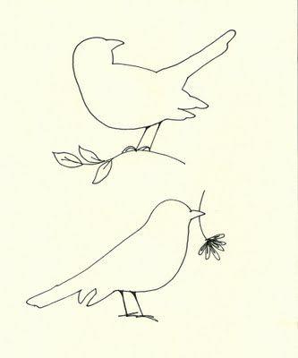 Cottage Hill: Ballard Bird Knock-offs (with printable pattern)