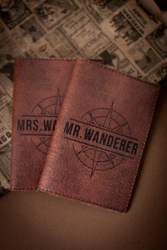 Passport covers for couples