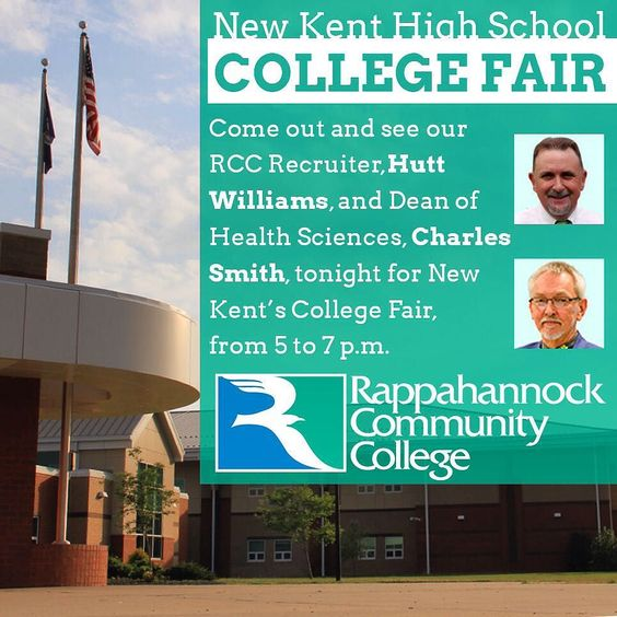 To all of our friends in New Kent County  come out tonight and visit our own Hutt Williams and Charles Smith who will be at NKHS for the Career Fair. Charles can answer all questions when it comes to a career in the Health Sciences. #newkenthighschool #newkent #careerfair #career #middlepeninsula #centralvirginia #va #virginia #rappahannock #community #college #comm_college #nurse #nursing #ems #emt #chef #transferstudent #transferdegree #804