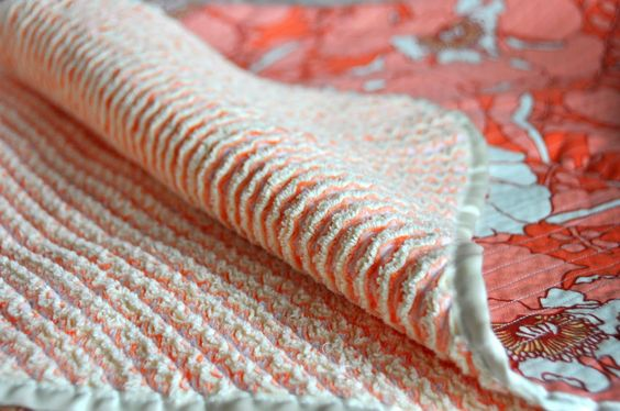 Aesthetic Nest: Sewing: Heirloom Cut Chenille Baby Blanket - I would love to try this! Has anyone tried this technique?