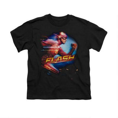 The Flash Running Youth Black T-Shirt