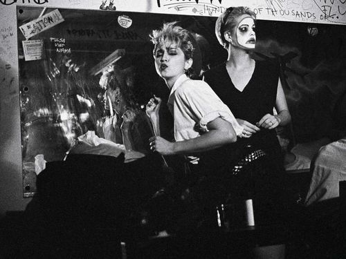 Madonna before her first performance at Danceteria, 1985.