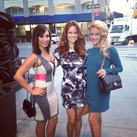 My girls on our way to @Good Morning America for the big cast announcement! Early morning with @thebrookeburke and @petamurgatroyd