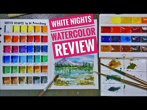 Is White Nights Watercolor Artist Grade Swatching Sample