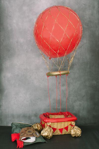 DIY hot air balloon costume: http://www.stylemepretty.com/living/2013/10/15/hot-air-balloon-costume-diy/ | Photography: Ruth Eileen - http://rutheileenphotography.com/