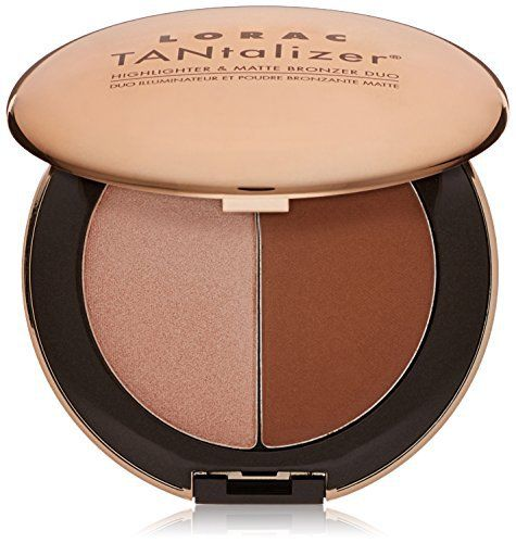 #LORAC Travel-Size #Tantalizer #Highlighter and Matte Bronzer Duo, Bronze, 1.6 fl. oz.  Full review on: http://toptenmusthave.com/best-makeup-highlighter/
