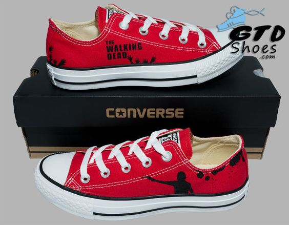 Hand Painted Converse Low. The Walking by GenuineTouchDesigns