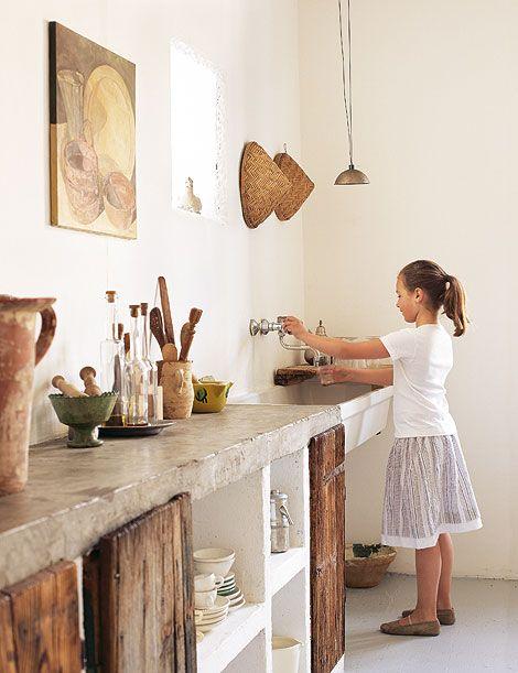 Italien Kreativexport Design in Italien Türen, Küchenschränke und Scheunenholz~ Kochinsel Glas