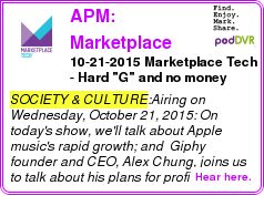 "#SOCIETY #PODCAST  APM: Marketplace Tech    10-21-2015 Marketplace Tech - Hard ""G"" and no money    LISTEN...  http://podDVR.COM/?c=f7a4772f-3a8e-3f60-647f-44eb78abc9e9"