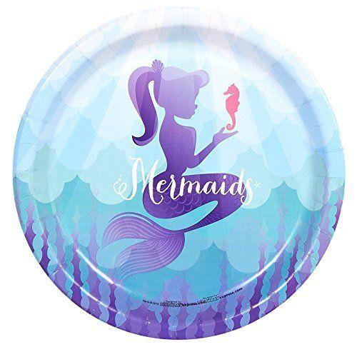 Mermaids Under the Sea Party Supplies - Dinner Plates (8), http://www.amazon.com/dp/B00JKPX5O4/ref=cm_sw_r_pi_awdm_O9dBxbC3CKM02