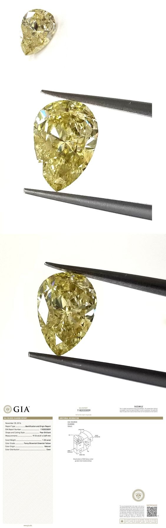 Natural diamonds 3824 gia certified pear cut natural loose natural diamonds 3824 gia certified pear cut natural loose diamond 132ct fancy greenish yellow color buy it now only 1995 on ebay nvjuhfo Gallery