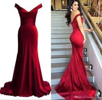 dress prom fishtail prom dress beautiful prom dress red dress red ...