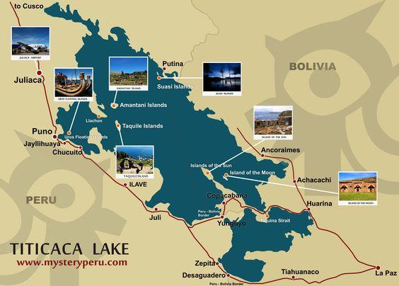 Lake Titicaca Map mysteryperu – Peru Travel Map