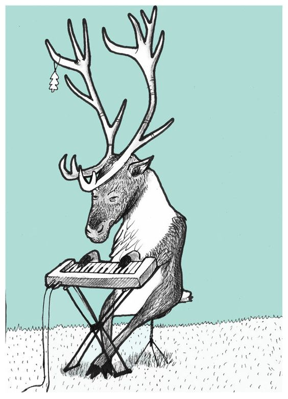 Illustration from a set of Scandinavian Animals: