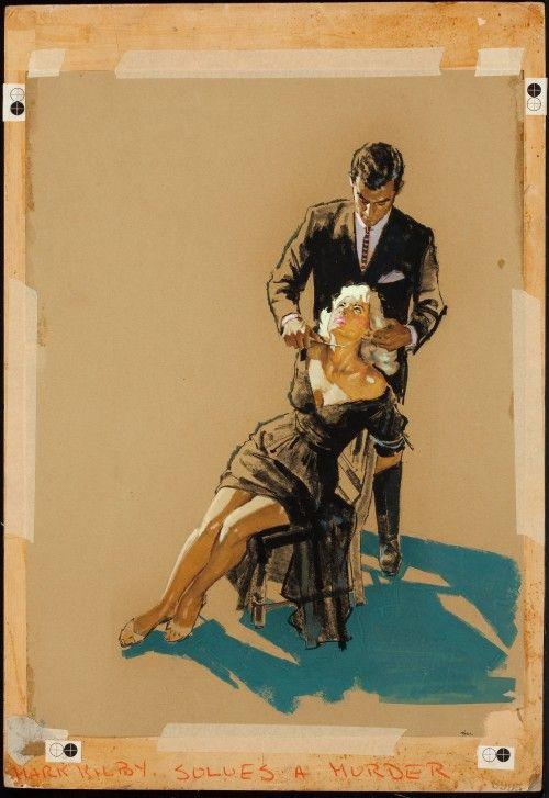 vintage james meese cover art Mark Kilby Solves a Murder