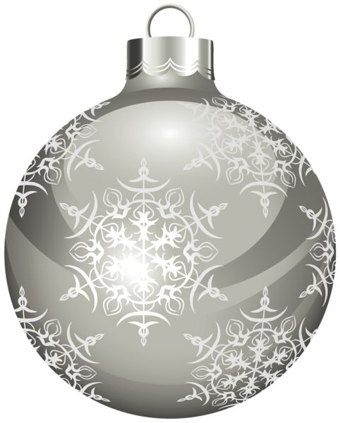 Christmas clipart silver and balls on