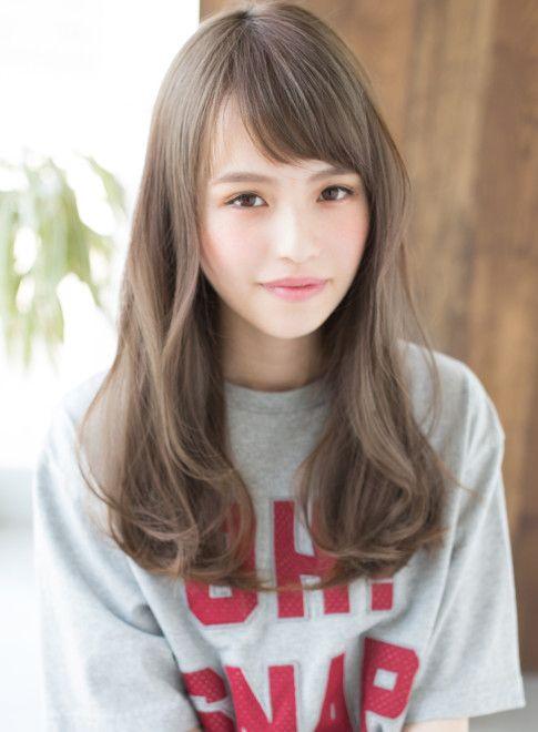 癖毛風ニュアンスカール 縮毛矯正 髪型ロング ヘアースタイル