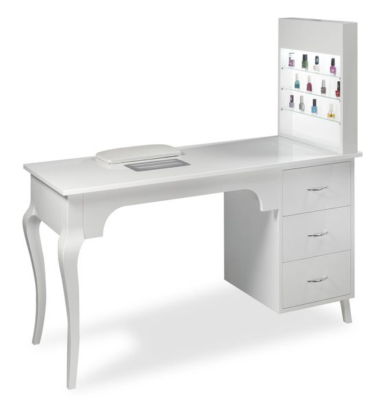Manicure table with vacuum cleaner estetica vezzosi for Nail salon table