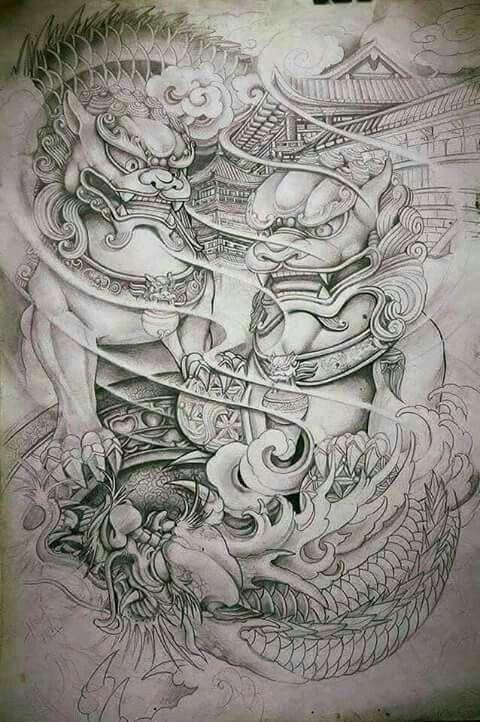 Dragonkoifishtattoodesigns Japanese Tattoo Foo Dog Tattoo Foo Dog Tattoo Design